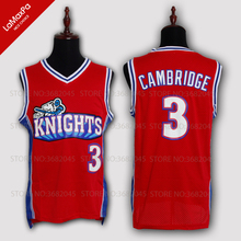 438a3d958314 Men Throwback Basketball Jerseys Movie Like Mike Knights No.3 Calvin  Cambridge Embroidered Stitched Jersey