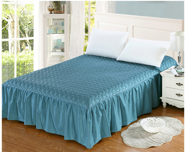 Aliexpress.com : Buy Cotton+Thick, add winter quilted bed skirt ... : quilted bedskirt - Adamdwight.com