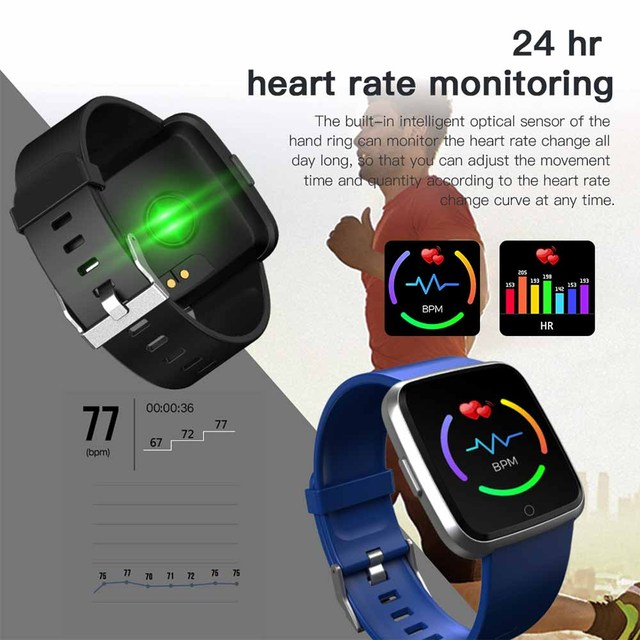 SCELTECH Y7 Long Standby Time Smart Watch Blood Pressure Oxygen Smartwatch Waterproof BT4.0 Heart Rate Monitor for IOS Android