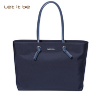Let It Be Brand Women Shoulder Bags Oxford Nylon Totes Fashionable Ladies Handbags With Leather Straps
