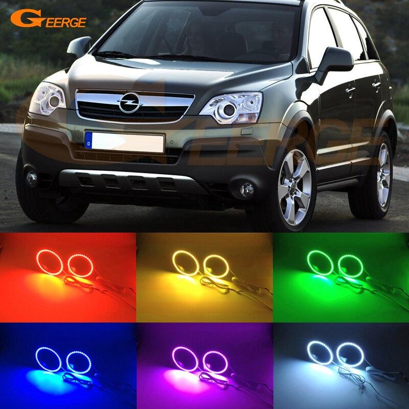 For Opel ANTARA 2011 2012 2013 2014 2015 xenon headlight Excellent Multi-Color Ultra bright RGB LED Angel Eyes kit