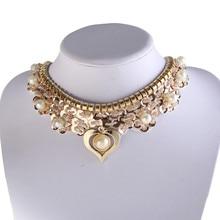 New Design Heart Flower Pendant Sequin Fake collar Choker Necklace For Women DIY Jewelry Gift YEYULIN