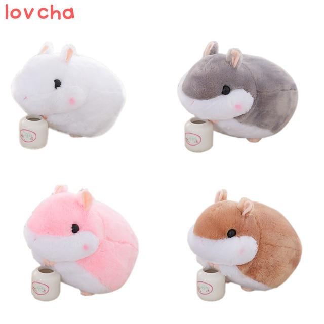 Lovcha 1 Stks Soft Toy Leuke Hamster Pluche Poppen Pluche Speelgoed