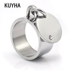 Female Ring Silver-Color Wedding-Jewelry Present Rhinestone Classic Christmas-Party Fashion