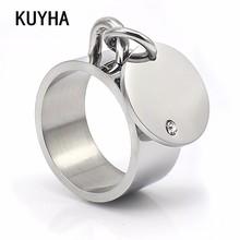 Fashion Male Female Ring Classic Silver Color Rhinestone Wedding Jewelry For Women Men
