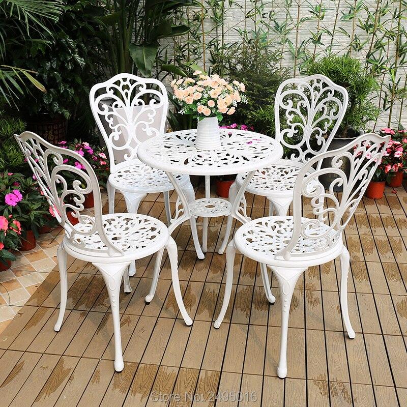 5pcs Cast Aluminum Garden Furniture