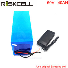 DIY e scooter battery 60v 40ah li ion battery pack fit for 60v 3000w electric fat bike For Samsung cell(China)