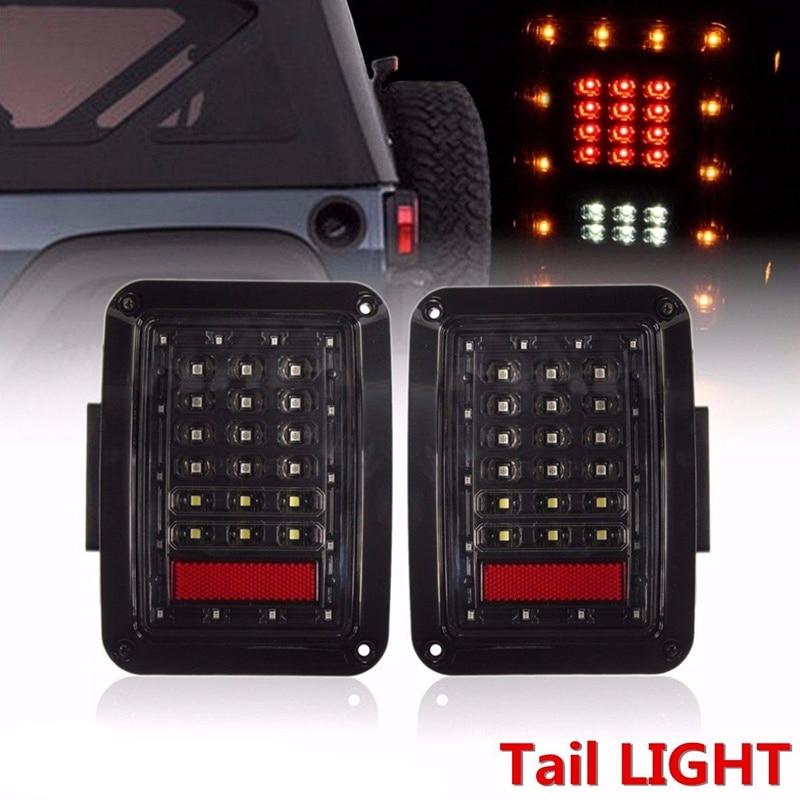 2x LED Tail Light Rear Reverse Brake Turn Signal Lamp For 07-16 Jeep Wrangler JK