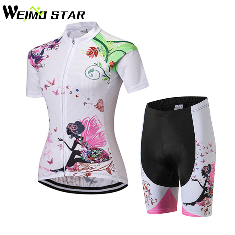 WEIMOSTAR Womens Sportswear QUICK STEP Cycling clothing Ropa Ciclismo jersey Bicycle cycling wear bikes shorts Size S-3XL