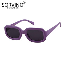 d21520d1f0 SORVINO 90s Vintage Small Square Sunglasses 2018 Women Brand Designer  Purple Red Pink Tiny Rectangle Sun Glasses Shades SVN48
