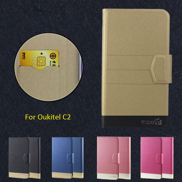 2016 Super! Oukitel C2 Phone Case, 5 Colors High quality Full Flip Fashion Customize Leather Luxurious Phone Accessories