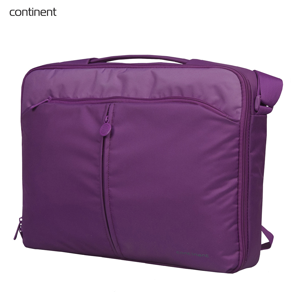 Фото - Laptop Bags & Cases Continent CONCC02PURP for laptop portfolio Accessories Computer Office for male female genuine leather men travel bags luggage women fashion totes big bag male crossbody business shoulder handbag