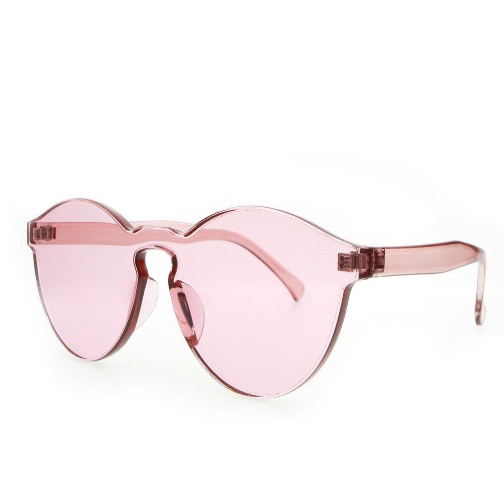 Модные женские туфли без оправы Солнцезащитные очки для женщин прозрачные оттенки Защита от солнца Очки женские классные Карамельный цвет UV400 очки Óculos De Sol #233117