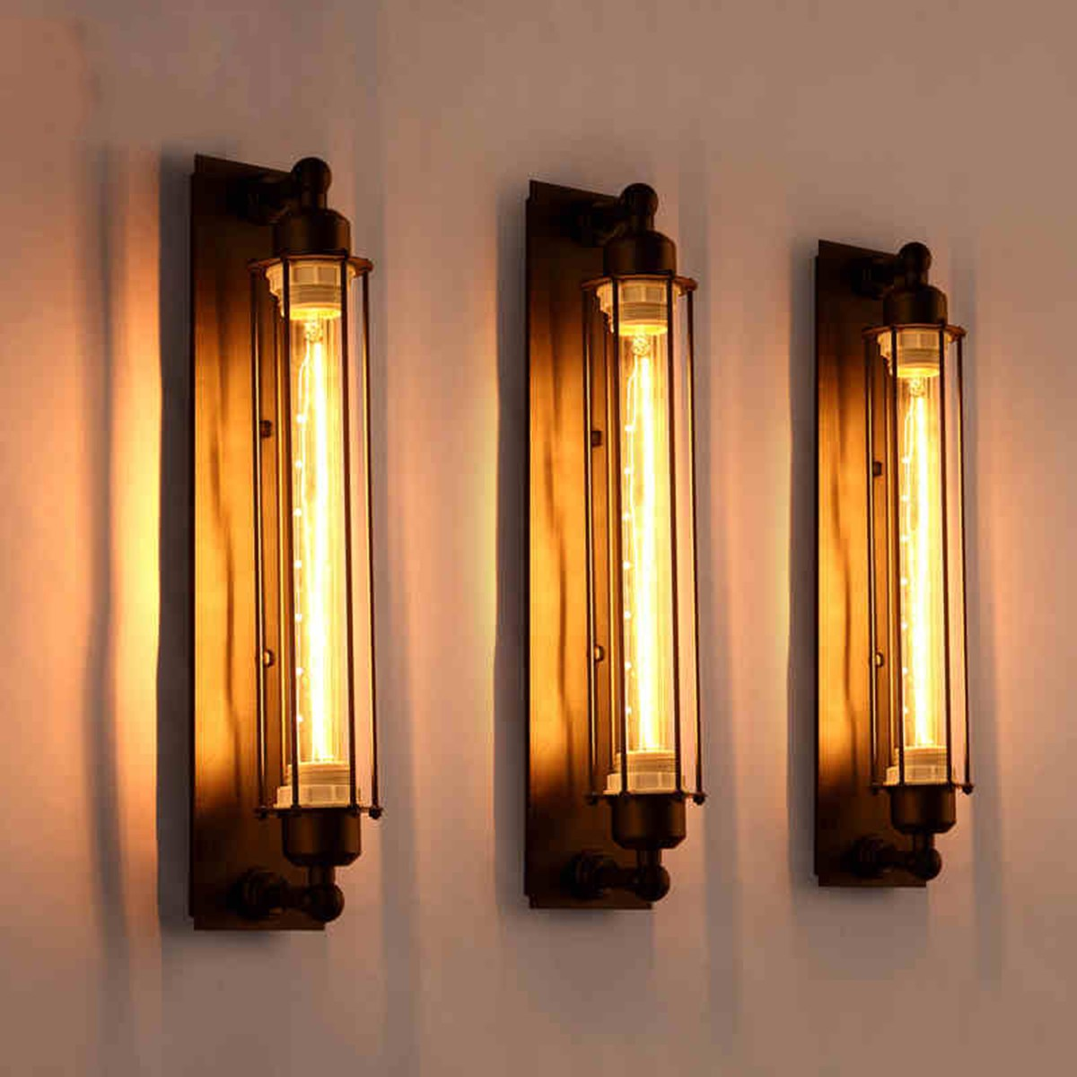 Corridor Vintage Retro Industrial E27 LED Wall Light Ceiling Wall Lamp Led W-filament Indoor LED Light Lamp 110-220V 2w 120lm red blue led wall lamp 110 220v
