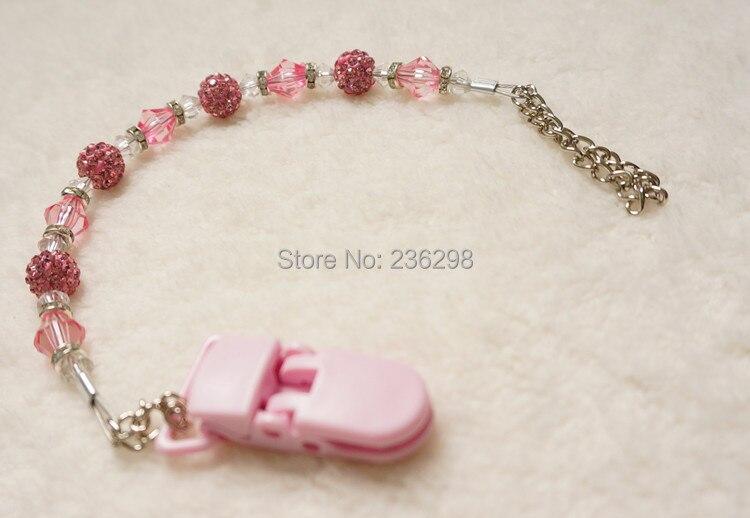 MIYOCAR Baby Stunning Princess pink Bling bling tangan dibuat / klip - Memakan kanak-kanak - Foto 3