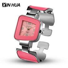 Relogios feminino 2017 Синьхуа Для женщин Часы Нержавеющаясталь браслет уникальные часы дизайнера платье женский часы Reloj Mujer
