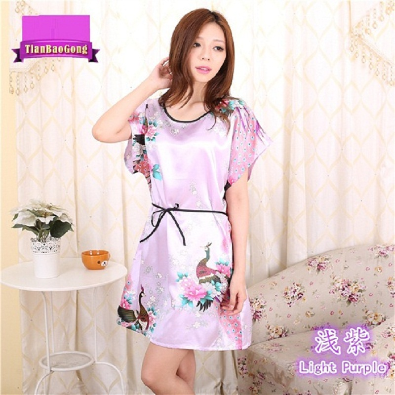 Women's Sleepwear Nightgowns Plus Size Summer Sexy Satin Sleepshirt  Floral Nightdress Nightwear Home Night Gown Comfortable