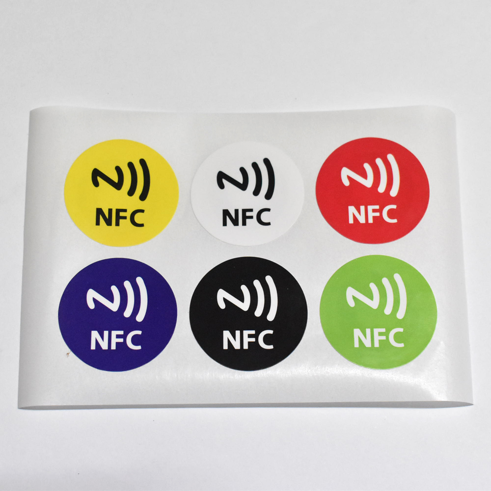 6pcs/lot NTAG213,NFC tags RFID adhesive label sticker,compatible with all nfc products dia 30mm giantree 6pcs waterproof nfc smart tags smartphone adhesive rfid label tag sticker compatible with all phones