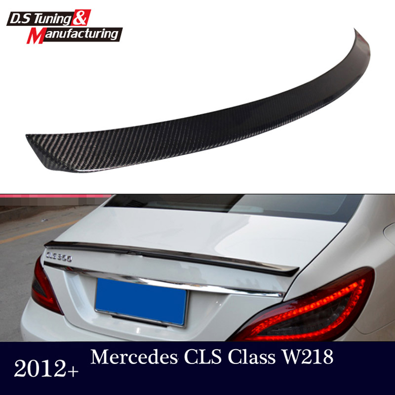 цена на Mercedes CLS W218 C218 2012 13 14 15 CF rear trunk wings spoiler for benz CLS 280 CLS300 CLS350 CLS500 CLS550