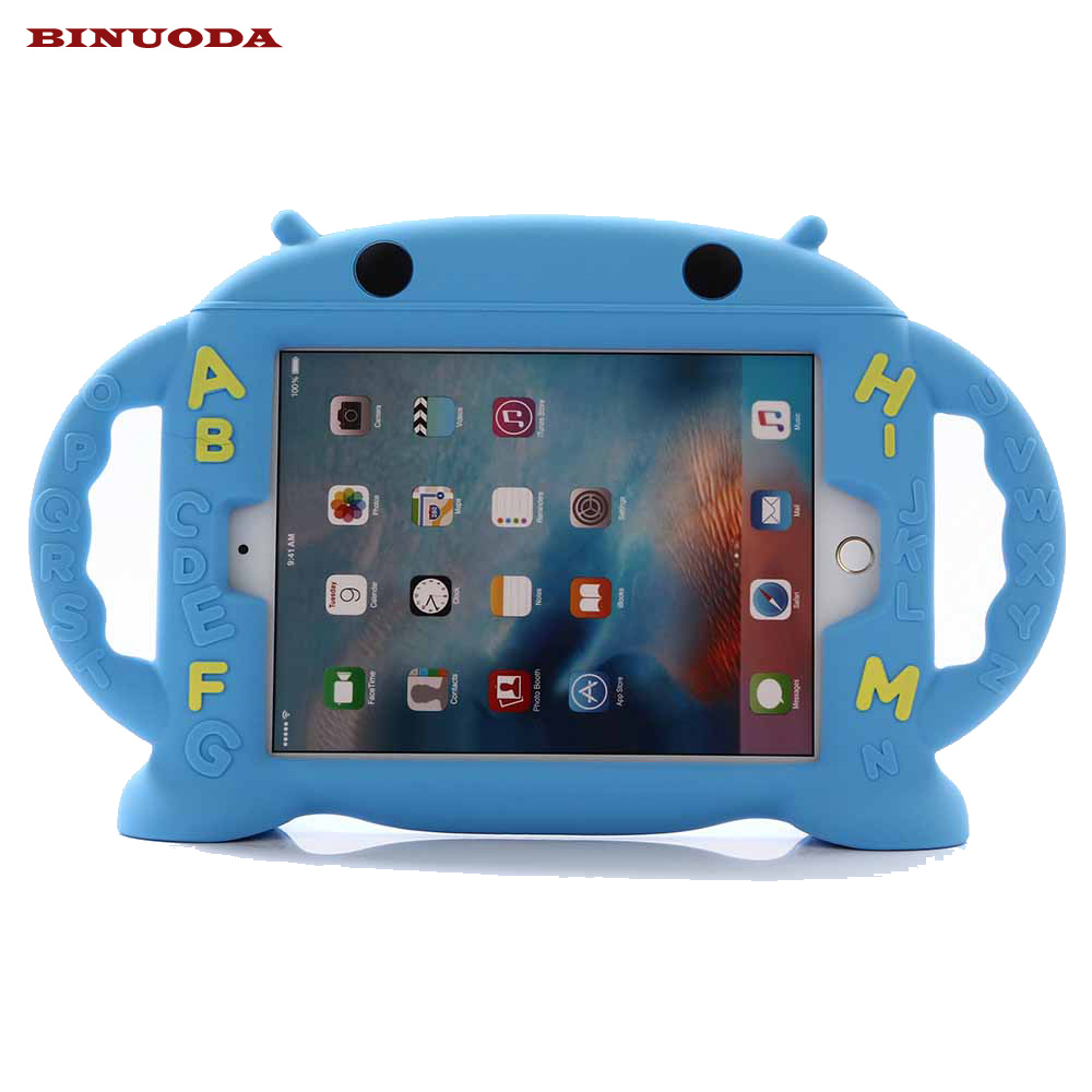 For iPad Mini Kid Case 2017 New Design 3D Cartoon Silicone Drop resistance Stand Cover Case for Apple iPad Mini 4 3 2 1 Coque  for ipad mini 3 2 1 kids fun 3d mini cartoon car childproof silicone protective case blue