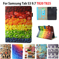 Fashion Silicone Leather Case For Sasmung Galaxy Tab S3 9 7 T820 T825 SM T820 Cases