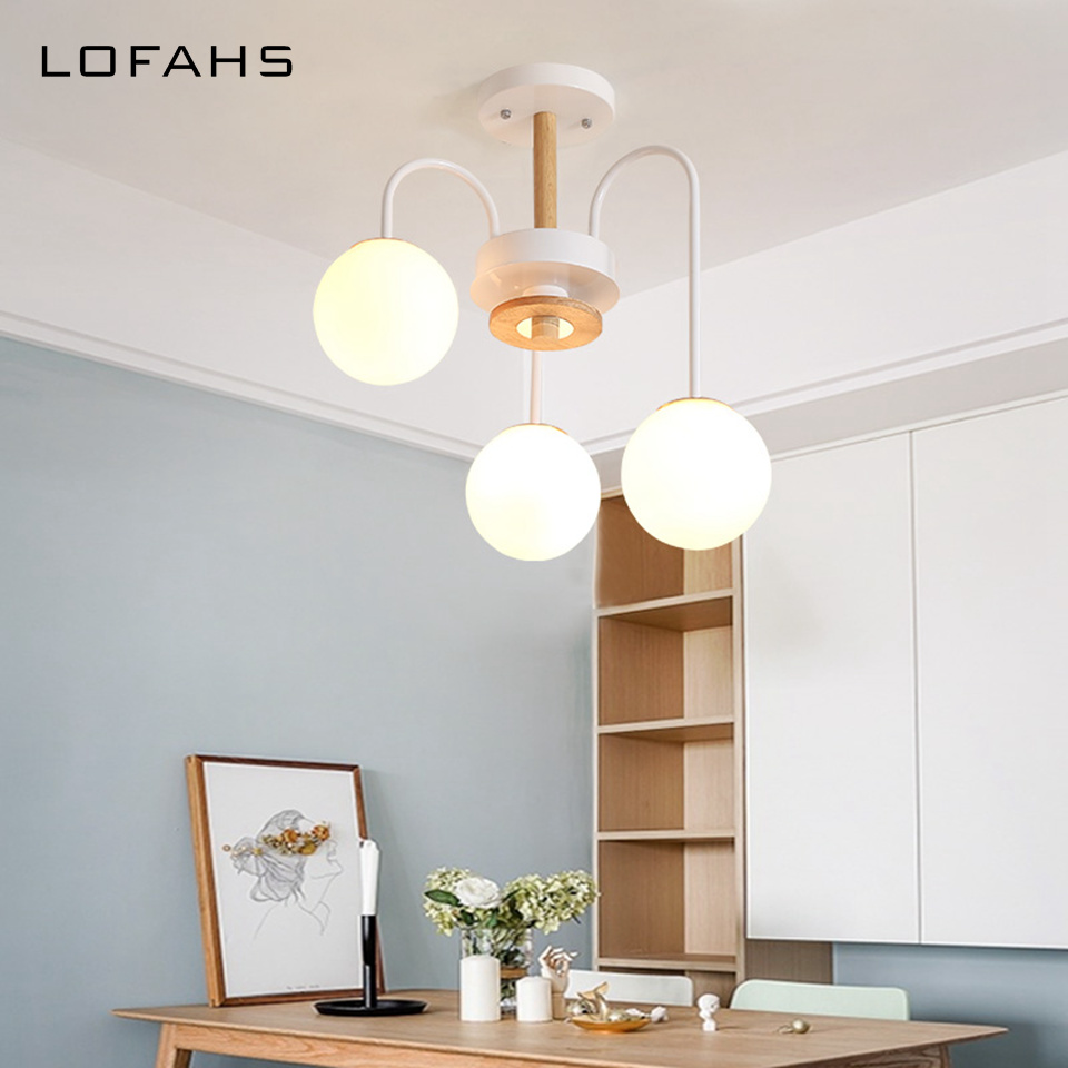 Здесь можно купить  Nordic Ceiling light E27 bulbs with glass ball Lampshade For Living Room Suspendsion Lighting Fixtures Lamparas Colgantes Lustre  Свет и освещение