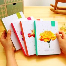 Creative Flower Hardcover blank white pages Illustration Graffiti writing notepad filofax diary agenda planner a5 notebook gifts(China)