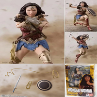 15cm DC Comics Justice League SHFiguarts Wonder Woman PVC Action Figure Collection Model Toys Gift