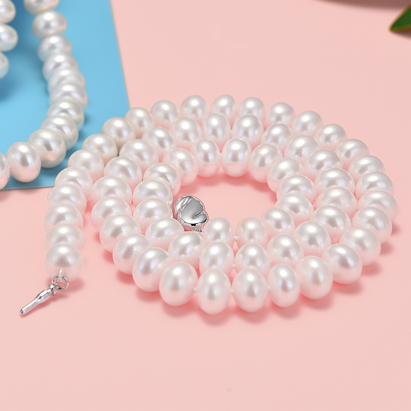 gNpearl White Pearl Necklace Natural Freshwater Pearl Hot Sale  Necklace Jewelry Charm Present GiftgNpearl White Pearl Necklace Natural Freshwater Pearl Hot Sale  Necklace Jewelry Charm Present Gift