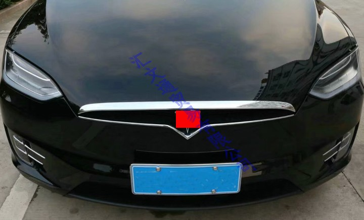 RQING for Tesla Model X 2016 2017 2018 2019 Chrome Front Hood Bonnet Cover Trim ABS