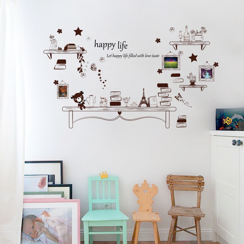 Miraculous Us 4 95 38 Off Happy Life Quote Removable Study Living Room Bedroom Office Decor Mural Furniture Eco Friendly Wall Stickers Decal Poster Dc28 In Gmtry Best Dining Table And Chair Ideas Images Gmtryco
