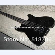 Черный 4 Strings пользовательских обезглавленный бас-гитара без головы Высокое качество