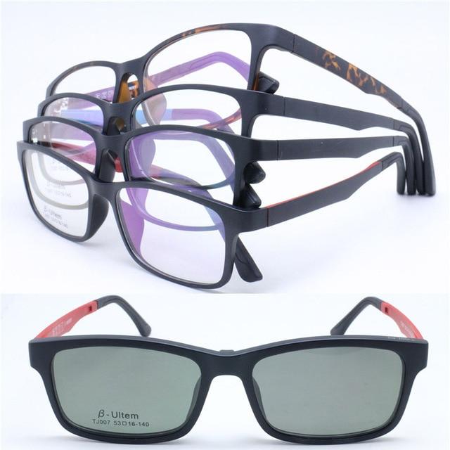 fe8700b4ab2 Wholesale TJ007 ULTEM full rim with megnatic clip on removable polarized  sunglasses lens rectangle optical frames