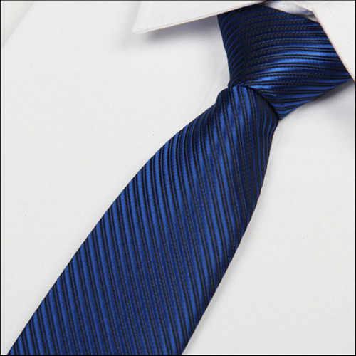 2016 nowy królewski niebieski krawat na wesela mężczyźni krawat 8cm panowie krawaty paski jedwabne sukienka na co dzień atacado gravata slim lote