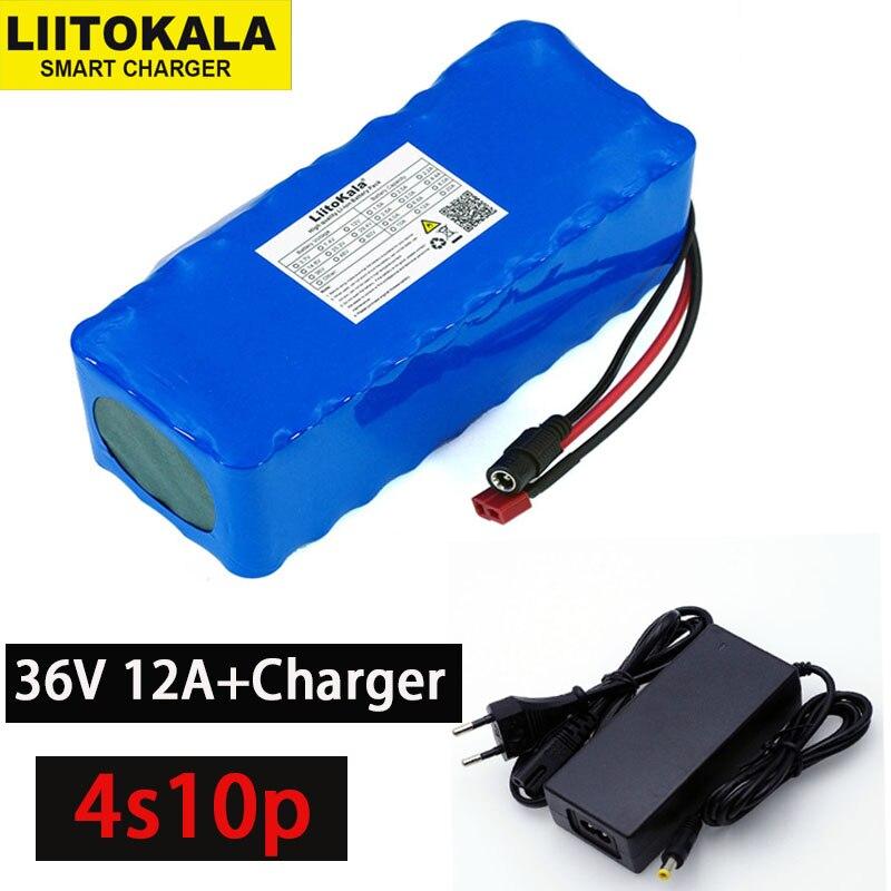 LiitoKala 36 v 10000 mah 500 w haute puissance et capacité 42 v 18650 batterie au Lithium électrique moto vélo Scooter avec BMS