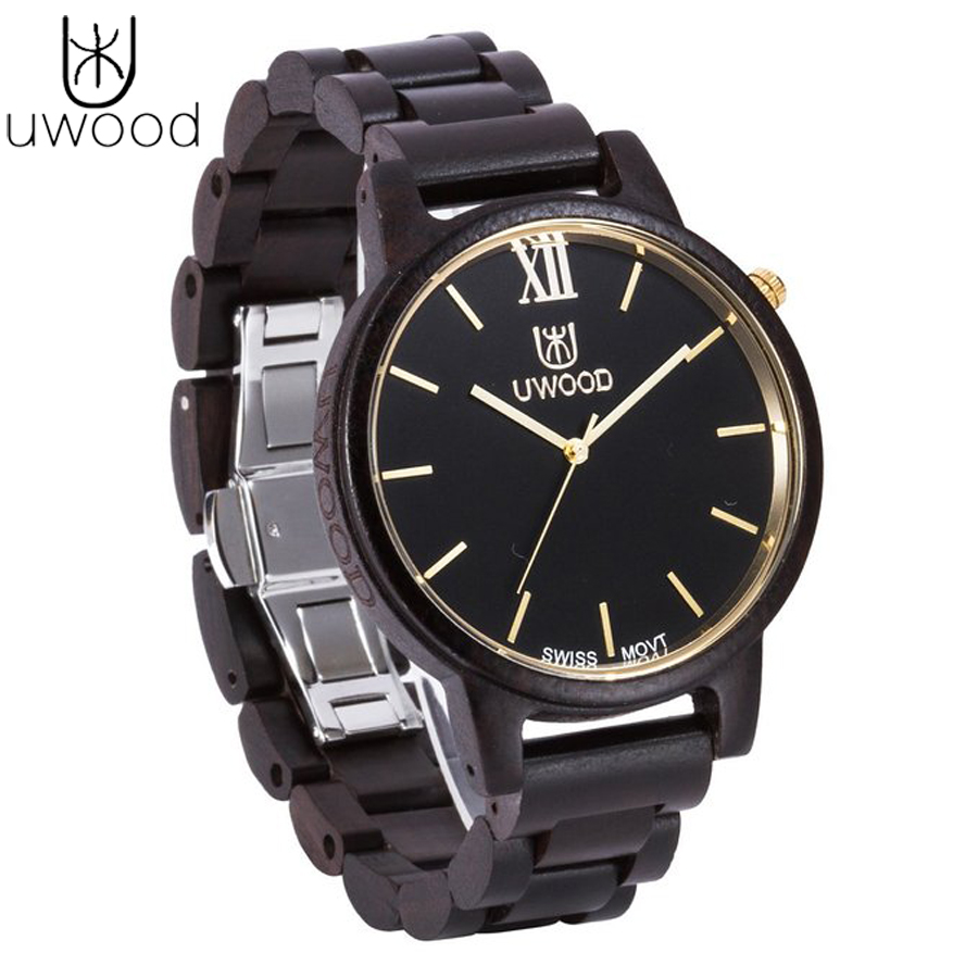 Hot sell Mens Watch All New Design Full Wooden Wristwatches with Wood Band Japan Move' 2035 Quartz Wood Watch for Men as Gifts