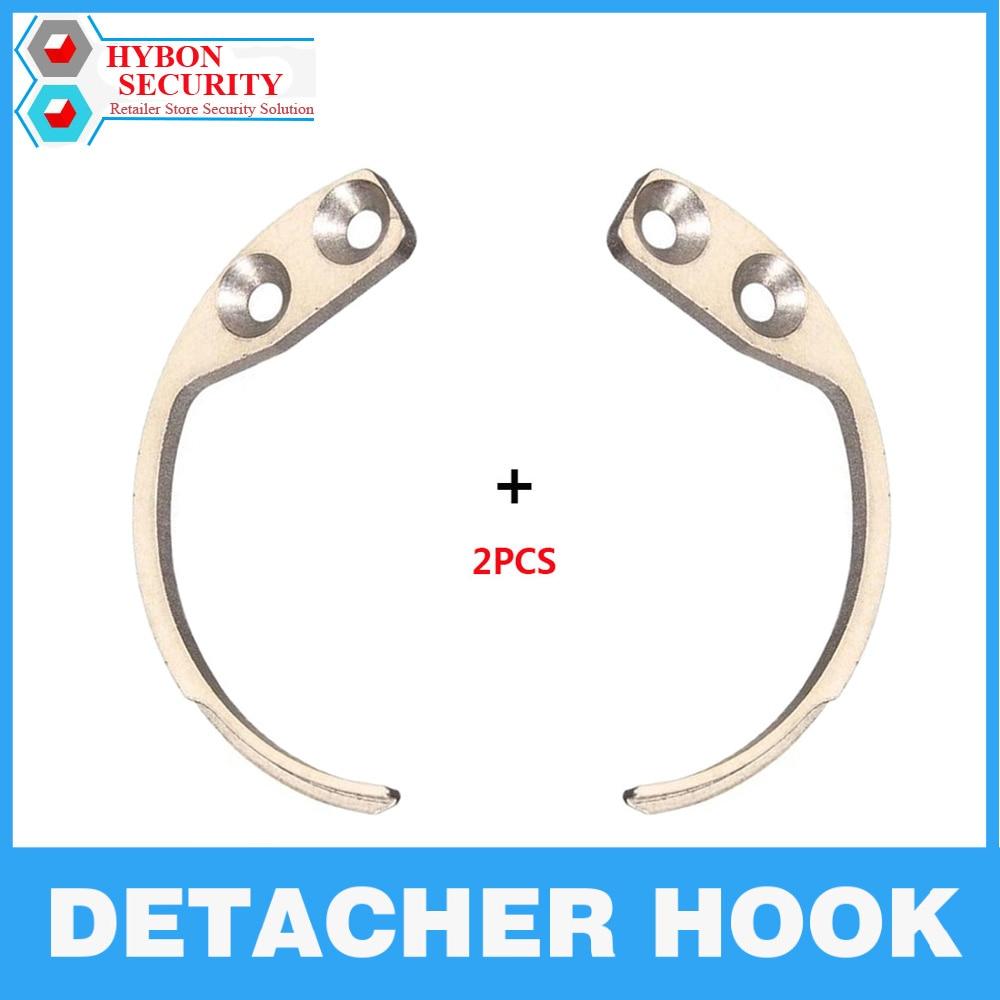 2Pcs/Lot Detacher Hook Handheld Security Tag Detacher Hook Key Detacher EAS Anti-Theft Magnetic Security Tag Remover