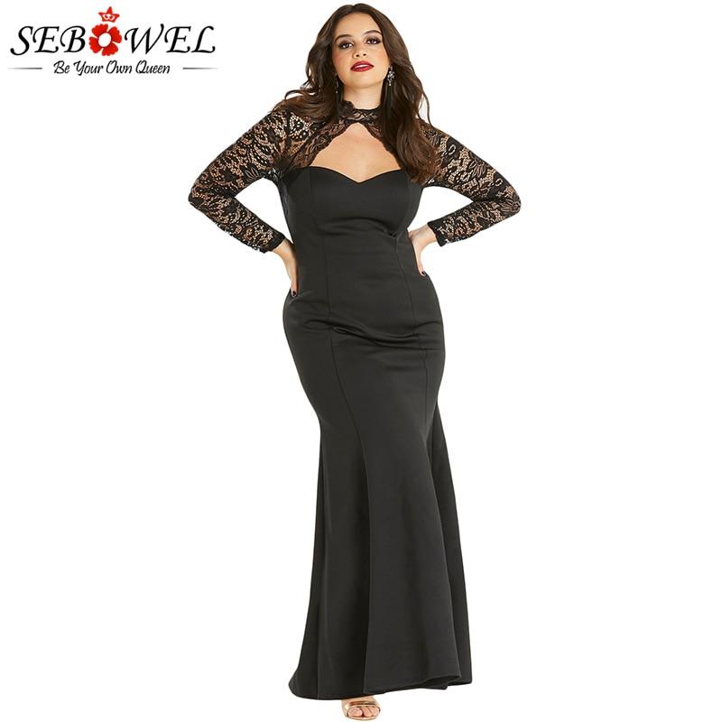 b8aa87da04d Detail Feedback Questions about SEBOWEL Plus Size Sexy Black Lace ...