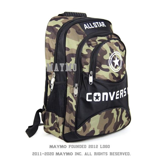 2015 new Converse shoulder bag backpack male Korean version of camouflage  backpack schoolbag female students travel backpack com dc8995a639