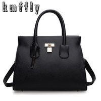 KMFFLY Luxury Solid Women Leather Bags Handbags Women Famous Brands Shoulder Bags Sac A Main Ladies