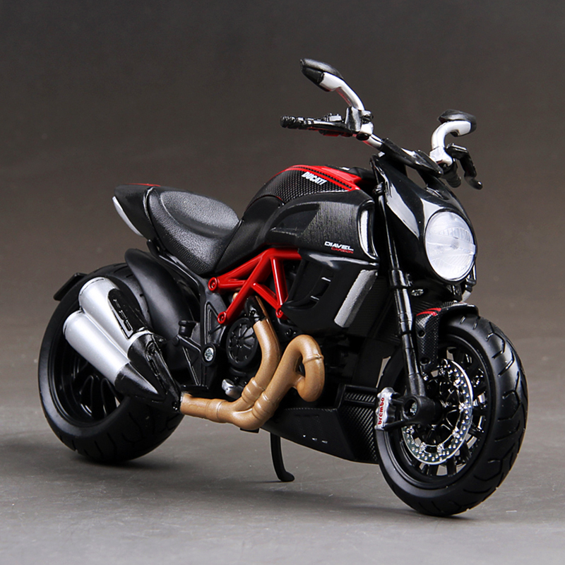 MAISTO DMH Diavel Motorcycle Model <font><b>1:12</b></font> scale Motorcycle <font><b>Diecast</b></font> Metal Bike Miniature Race Toy For Gift Collection image