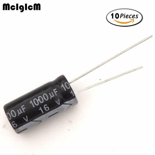 MCIGICM 10 stücke aluminium-elektrolytkondensator 1000 uf 16 v 8*16 elektrolytkondensator 1000 uf 16 in
