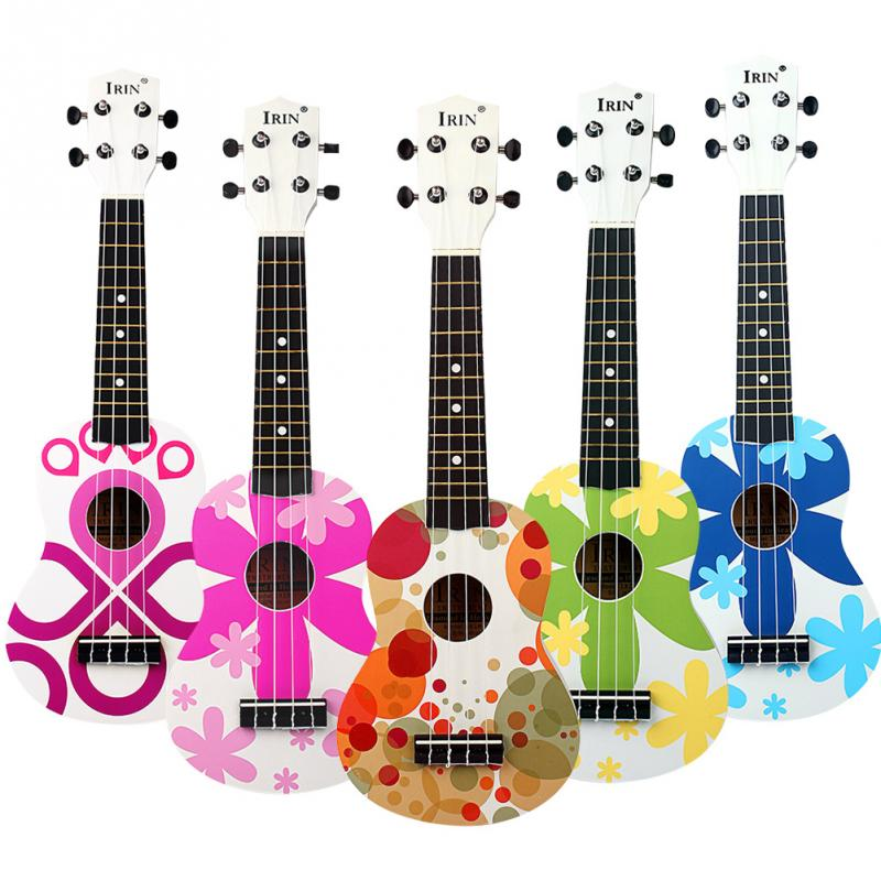 21 inch small portable lightweight painted wood ukelele mini 4 string hawaii guitar for kids. Black Bedroom Furniture Sets. Home Design Ideas