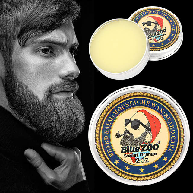 US $1 29 46% OFF|Natural Beard Balm Beard Conditioner Professional For  Beard Growth Organic Mustache Wax For beard Smooth Styling 60g TSLM2-in  Hair