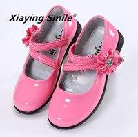 Belbello Girls Shoes Children Loafers Kid Shoe Little Princess Spring Summer Sweet Flower Rhinestone Patent Leather
