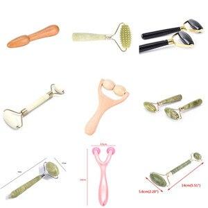 Portable Barbed Face Massage Roller Prat