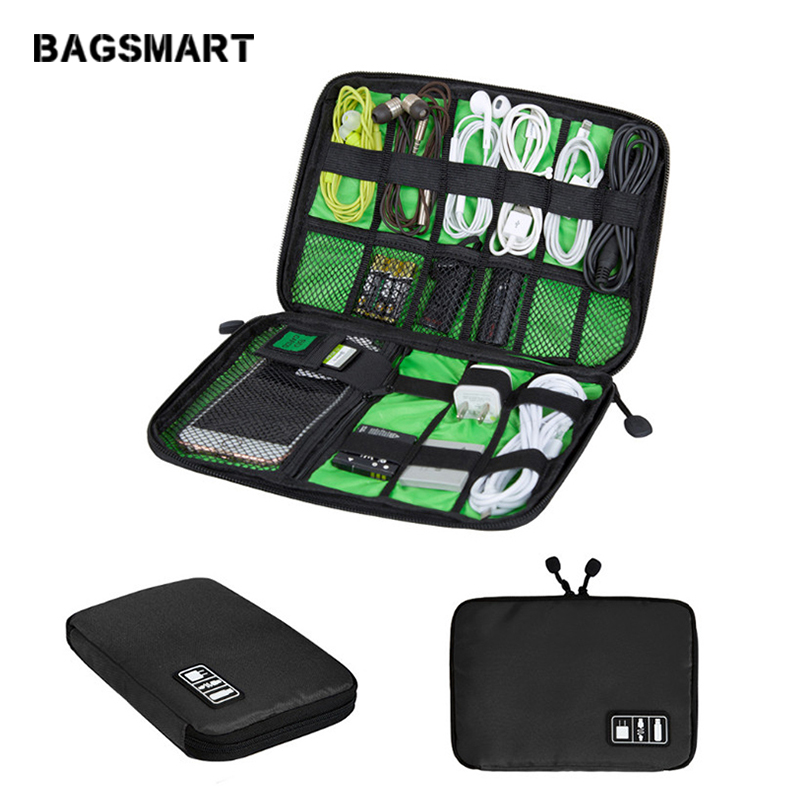 BAGSMART Travel Electronic Accessories Bags Travel Accessories Organizer Packing Bag For Phone Charger Date Cable SD Card USB