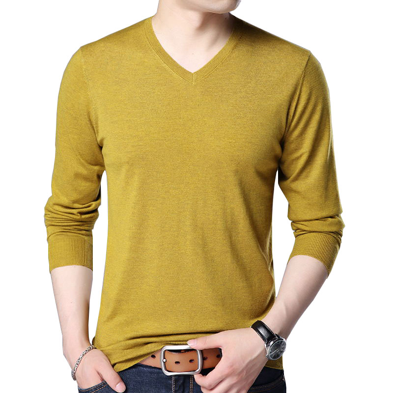 detailed look 95712 6f89d QISHA Casual Slim Fit Pullover Männer Klassische Reiner ...