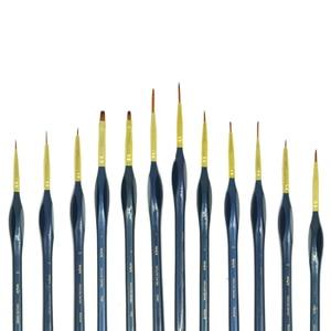 Image 4 - High grad 12 Pcs Fine Details Hand Painted Hook Line Pen Art Material Minute Series Drawing Art Pen Painting Nylon Acrylic Brush