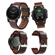 Luxury Genuine Leather Pointed Strap Replacement wriststrap For Garmin Fenix 5 GPS Professional Factory Price watch band